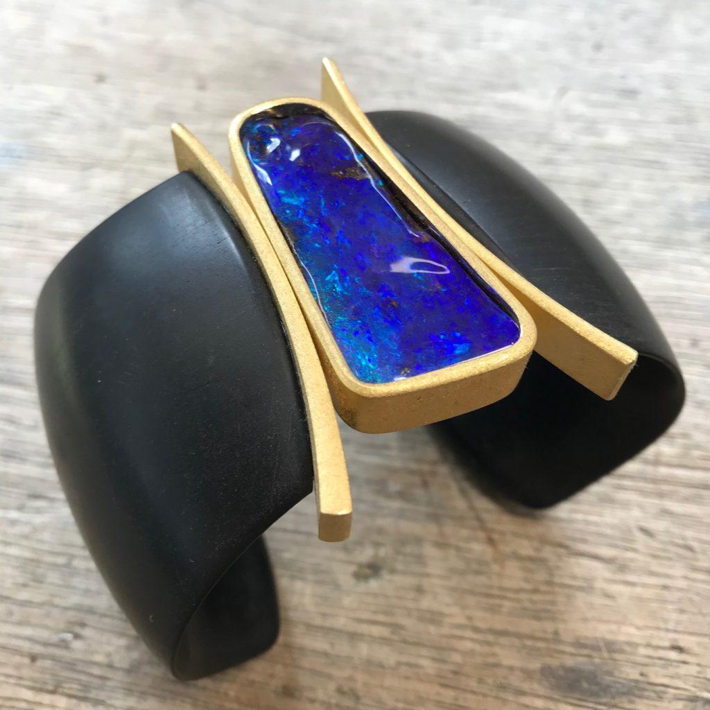 Armreif Opal Holz aus 3D-Drucker