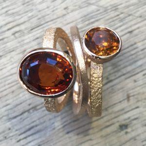 Ringe aus Goldmünze mit Citrine